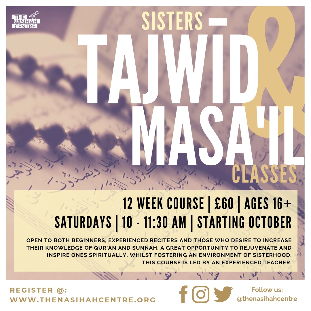 Tajwid & Masail Classes